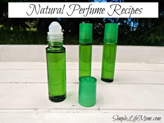 Natural Homemade Perfume from Simple Life Mom. Made with Essential Oils.