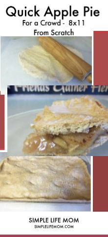 Quick and Easy Apple Pie Recipe From Scratch by Simple Life Mom