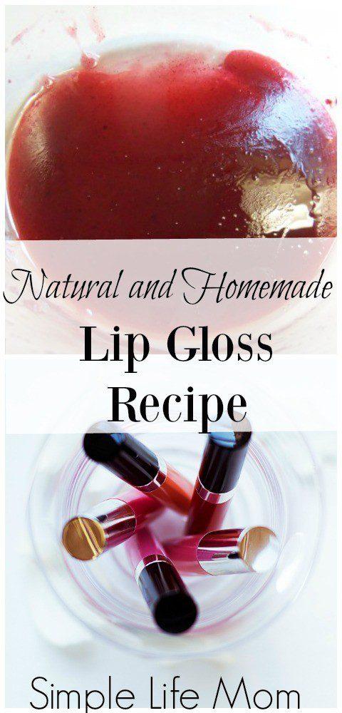 Homemade Natural Lip Gloss Recipe