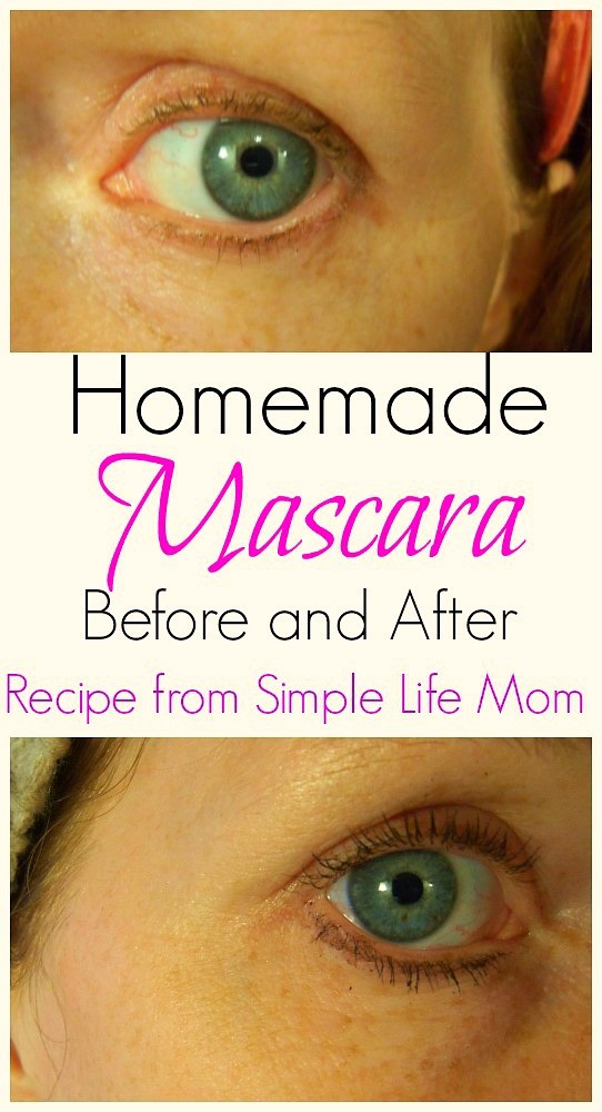 Before and After Shot with Homemade Mascara