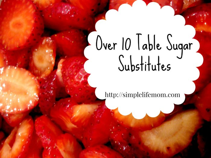 Over 10 Table Sugar Substitutes