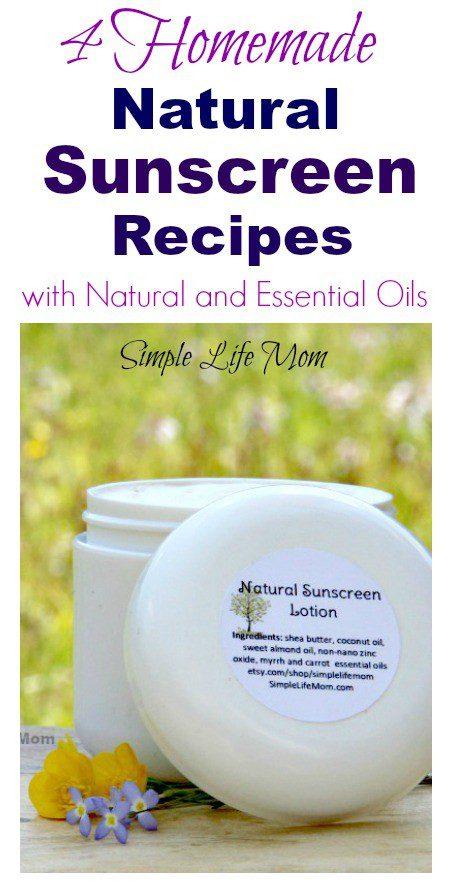 4 Homemade Natural Sunscreen Recipes