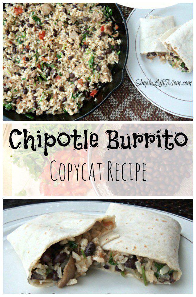 Chipotle Burrito Copycat Recipe from Simple Life Mom