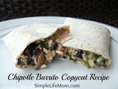 Chipotle Burrito Copycat Recipe - great Mexican flavor at home