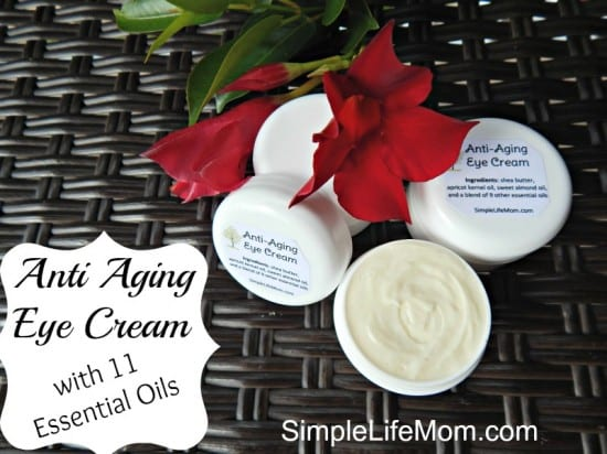 2014 Best Homemade Beauty Recipes - Anti Aging Eye Cream with 11 Essential Oils by Simple Life Mom