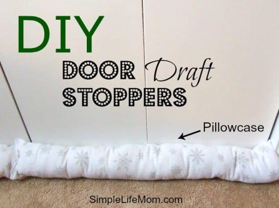 DIY Door Draft Stoppers