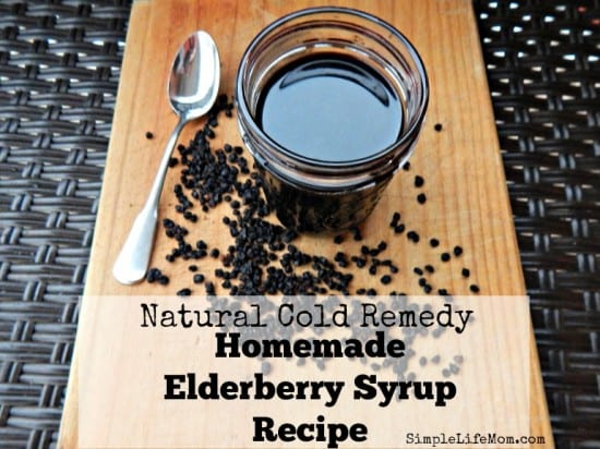 17 Natural Back To School DIYs - Natural Cold Remedy Homemade Elderberry Syrup Recipe