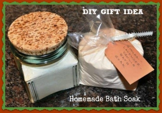 27 Last Minute DIY Gift Ideas -Homemade Bath Soak from Better Hens and Gardens