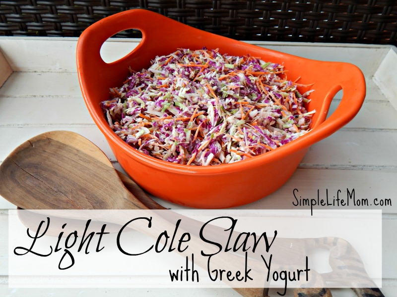 Light Cole Slaw Recipe with Greek Yogurt