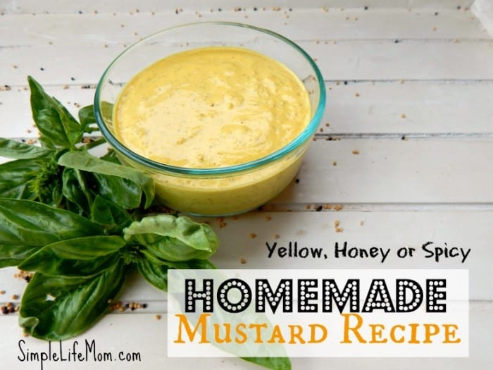 Homemade Mustard Recipe. 5 Minutes to Amazing Flavor! from Simple Life Mom