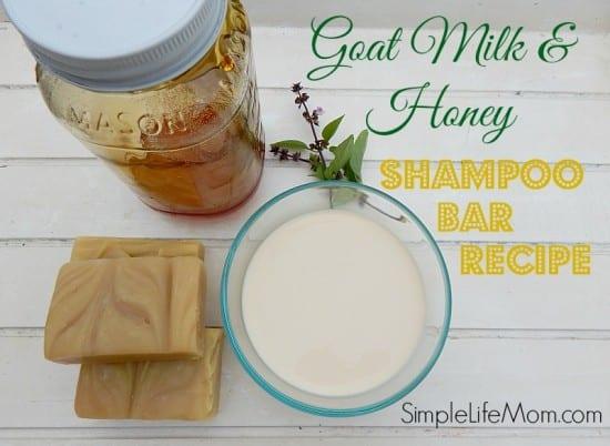 Goat Milk and Honey Shampoo Bar Soap Recipe by Simple Life Mom