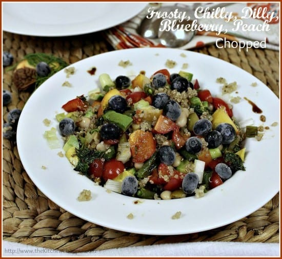 Featured on the Homestead Blog Hop - Frosty-Chilly-Dilly-Blueberry-Peach-Chopped-The-Kitchen-Chopper