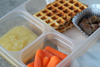 17 Natural Back to School DIYs - peanut-butter-waffle-lunch