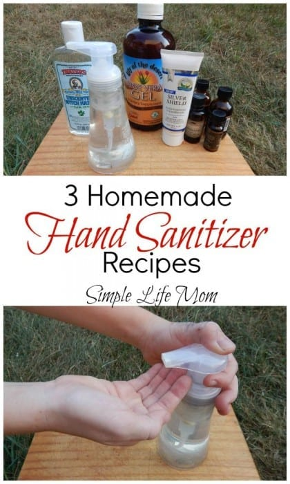 3 Homemade Hand Sanitizer Recipes from Simple Life Mom
