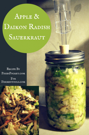 12 Apple Recipes for Fall - Apple-Daikon-Radish-Sauerkraut-1-682x1024