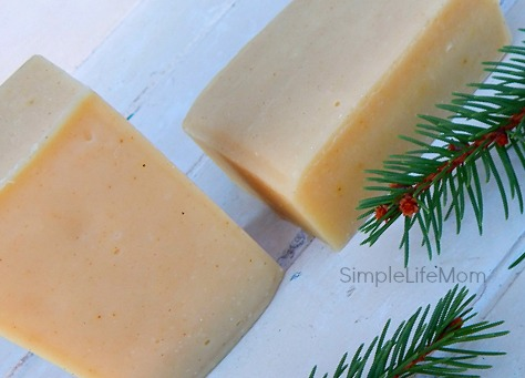 Golden Frankincense and Myrrh Soap Recipe - Handmade cold processed soap recipe great for Christmas gifts