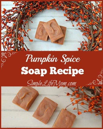 Pumpkin Spice Soap Recipe - great for Thanksgiving gifts - from SimpleLifeMom