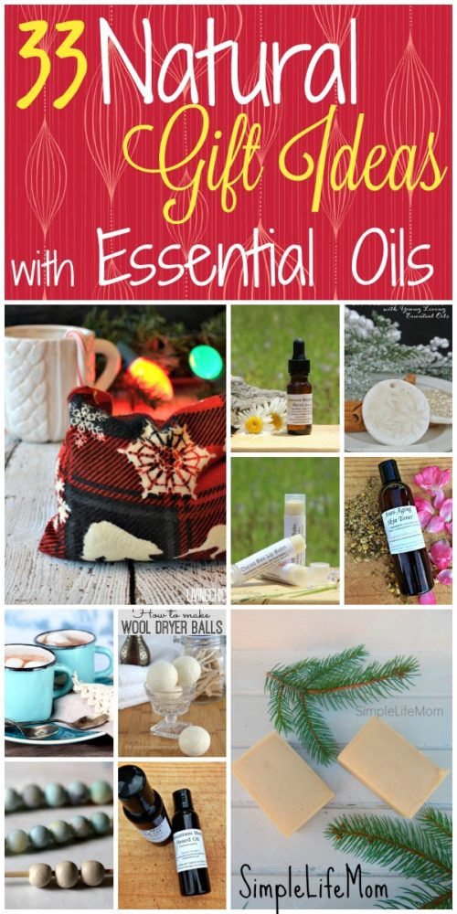 Top 33 Homemade Gift Ideas with Essential Oils