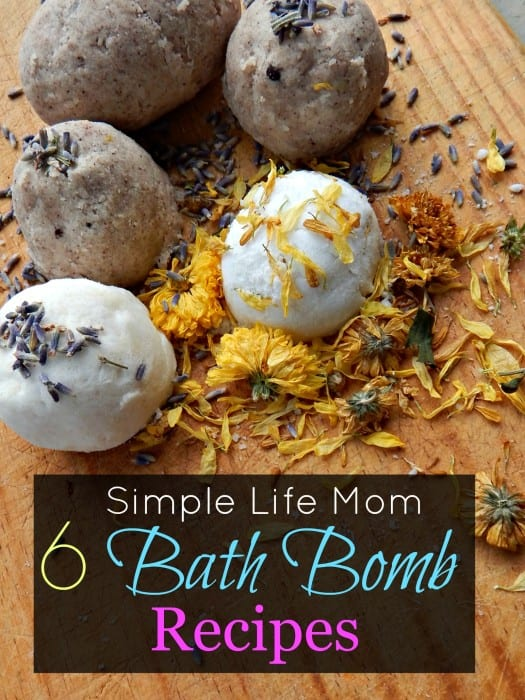 6 Amazing Bath Bomb Recipes from Simple Life Mom - all natural, organic, ingredients only
