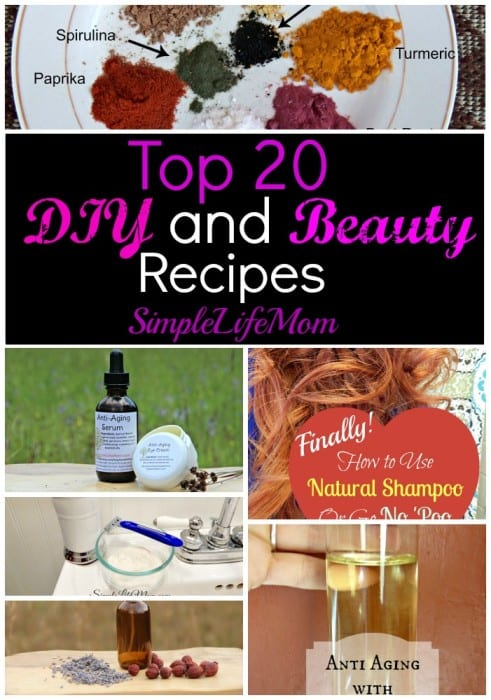Top 20 DIY and Beauty Recipes of 2015 from Simple Life Mom