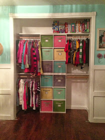 Frugal Organization Ideas for Kids Bedroom - Quick Fix Closet Organization from One Thrifty Chick