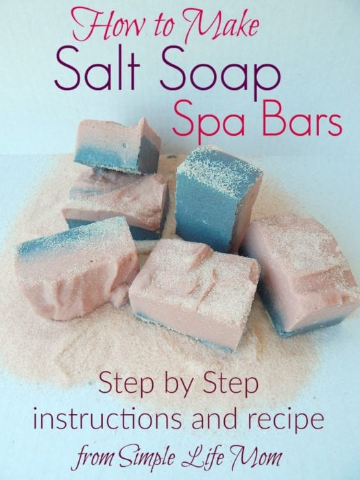 How to Make Natural Salt Soap Bars from @simplelifemom #naturalskincare #giftidea