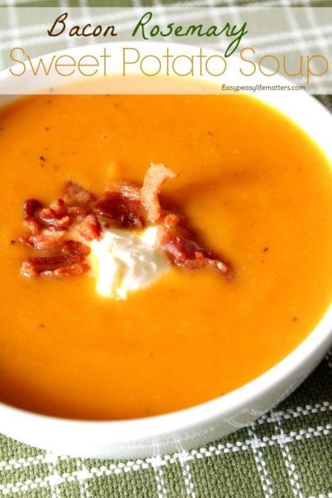 Homestead Blog Hop Feature - bacon-rosemary-sweet-potato-soup