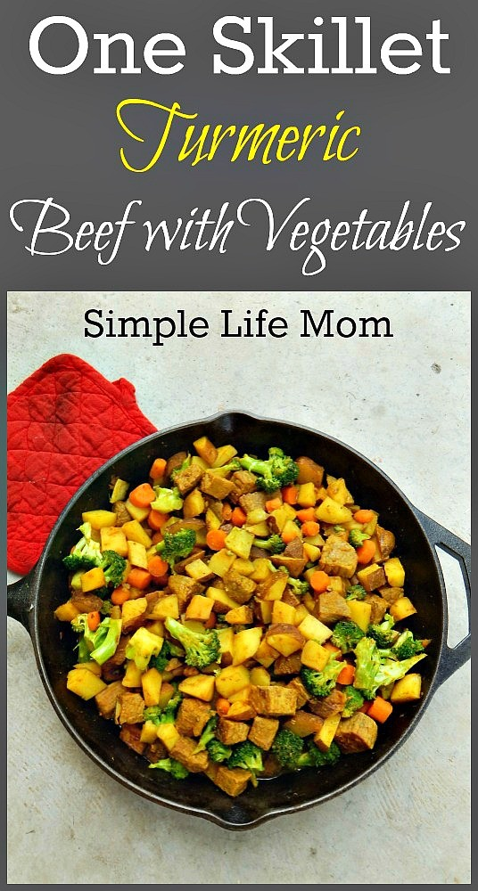 One Skillet Turmeric Beef with Vegetables