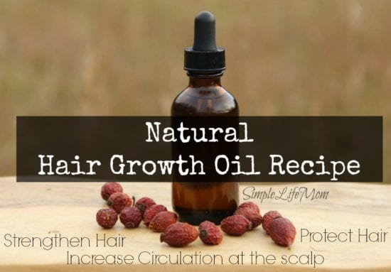 Natural Beauty Product Recipes - Hair Growth Oil Recipe from Simple Life Mom