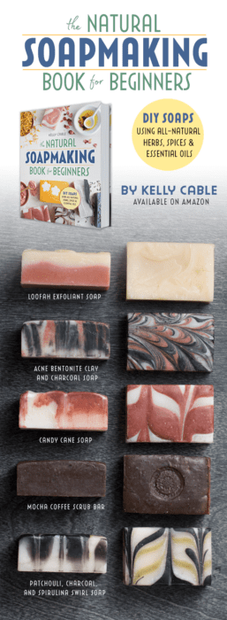 The Natural Soap making Book for Beginners - Anti Aging Face Bar Recipe - Natural Cold Processed Soap Recipe with essential oils #organic #naturalskincare