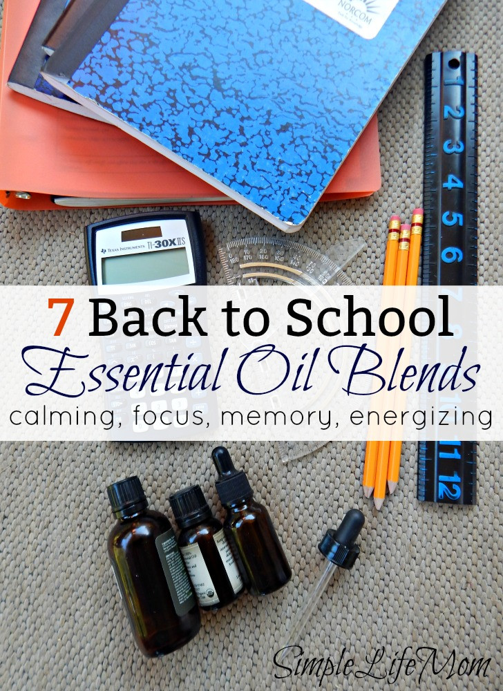 7 Back to School Essential Oil Blends