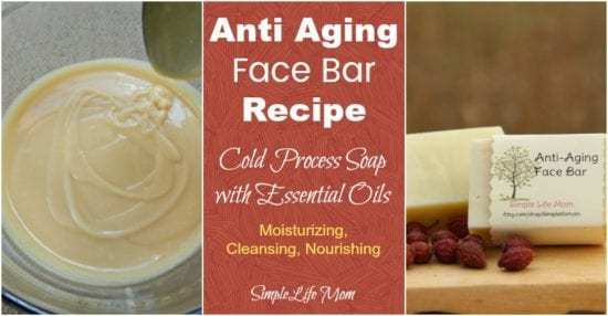 Natural Beauty Product Recipes - Anti Aging Face Bar Recipe with essential oils by Simple Life Mom