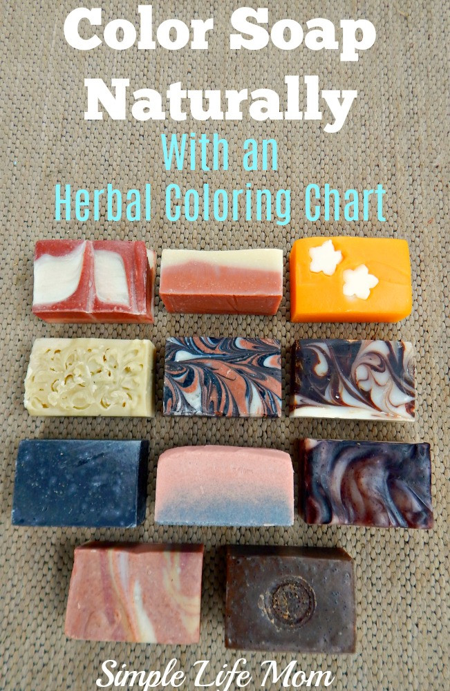 Color Soap Naturally – With an Herbal Coloring Chart & Giveaway