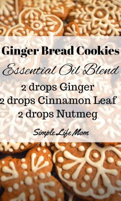 15 Fall Essential Oil Diffuser Blends - Ginger Bread Cookies Essential Oil Blend from Simple Life Mom