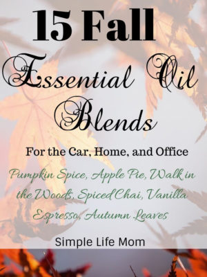 15 Fall Essential Oil Blends from Simple Life Mom