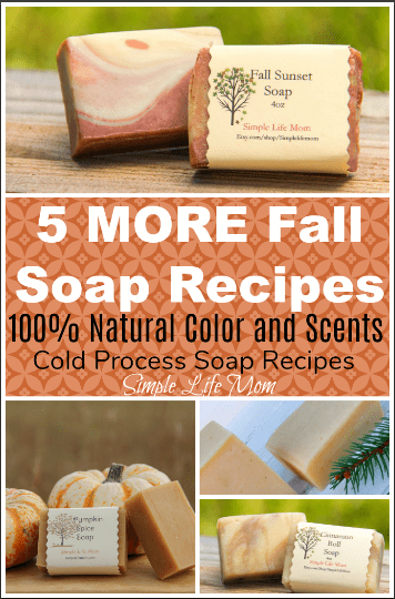 5 MORE Fall Soap Recipes with all natural colors and scents from Simple Life Mom