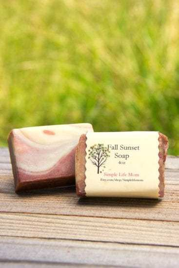 Fall Sunset Soap by Simple Life Mom - - 5 More Fall Soap Recipes
