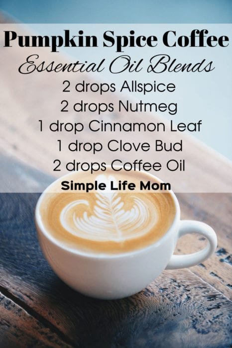 Pumpkin Spice Coffee Essential Oil Blend - 15 Fall Essential Oil Diffuser Blends from Simple Life Mom