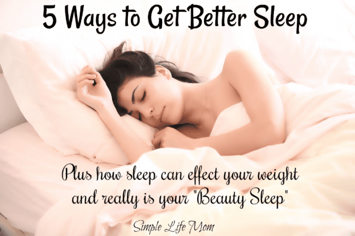 5 Ways to Get Better Sleep by Simple Life Mom