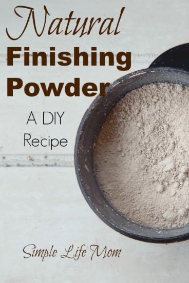 Natural Finishing Powder Recipe