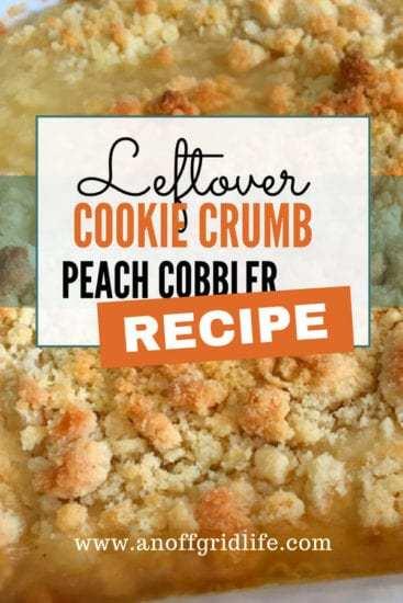 Homestead Blog Hop Feature - Cookie Crumb Peach Cobbler