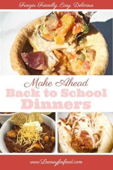 Homestead Blog Hop Feature - Make Ahead back-to-school-meals