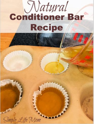 Natural Conditioner Bar Recipe by Simple Life Mom