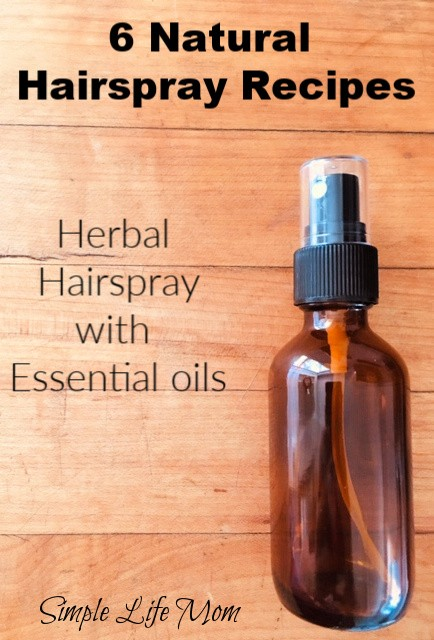 6 Natural Hair Spray Recipes by Simple Life Mom