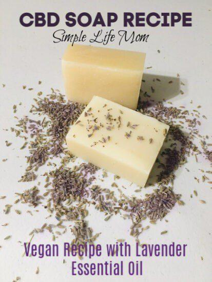 CBD Soap Recipe- vegan with lavender essential oil by Simple Life Mom