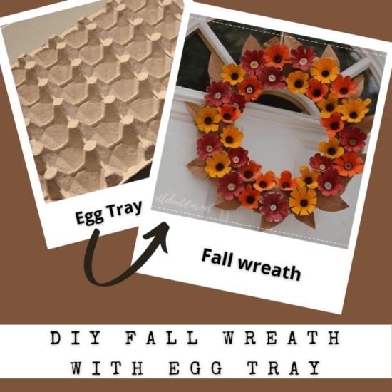 Homestead Blog Hop Feature - diy-fall-wreath from egg trays