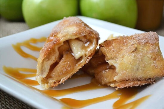 Homestead Blog Hop Feature - Apple Pie Flautas in Air Frier