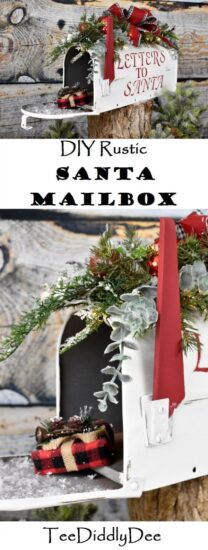 Homestead Blog Hop Feature - DIY Rustic Christmas Santa Mailbox
