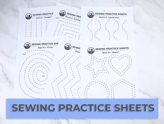 Homestead Blog Hop Feature - sewing-practice-sheets