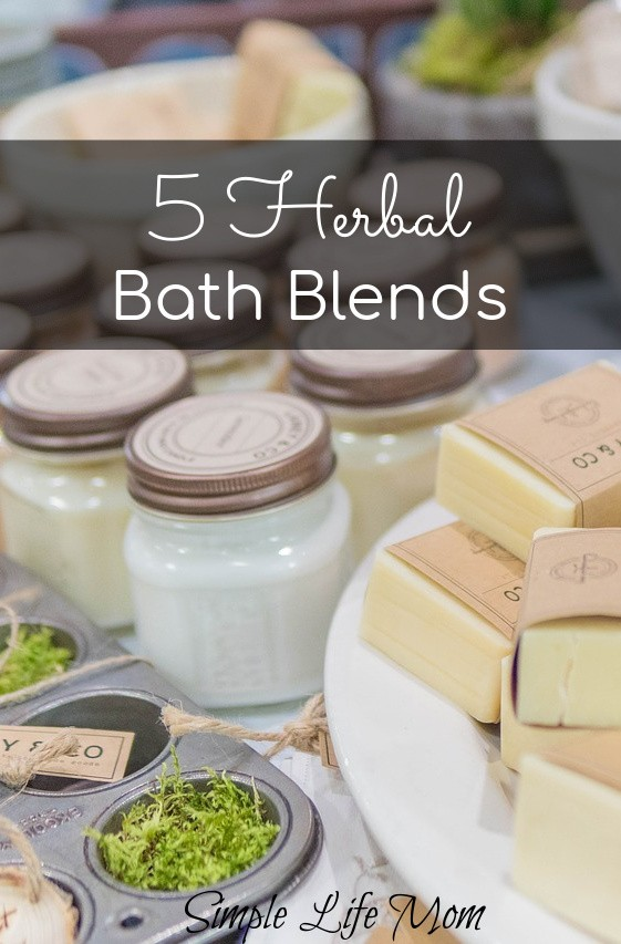 5 Herbal Bath Blends from Simple Life Mom